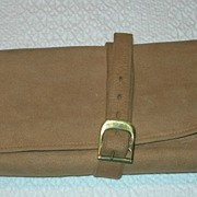 REDUCED Vintage Leather Lederer Accessory travel carrier