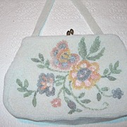 REDUCED Vintage Glass Beaded Handbag