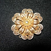 REDUCED Vintage Filigree Brooch