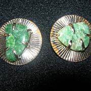 REDUCED Vintage Coro Jade Earrings