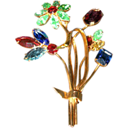REDUCED Coro-Craft Flower Brooch...with original bag