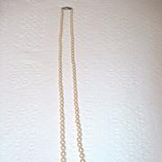 SALE Vintage Single Strand Imitation Pearls