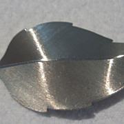 SALE Vintage Sterling Beaucraft Leaf Brooch