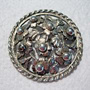 SALE Large Handmade Sterling Silver Brooch
