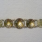 SALE Pre-revolution Russian Coin Bracelet
