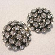 Vintage Marvella Cluster Clip Earrings