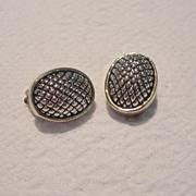 SALE Vintage Silver Toned Clip Earrings