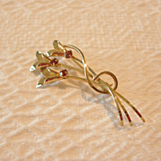 REDUCED Vintage Curtis Jewelry Mfg. Co. Gold Filled Flower Brooch