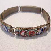 REDUCED Antique Venetian Micro Mosaic Bracelet