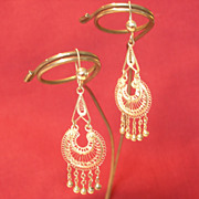 REDUCED Filagree Chandelier Earrings from our Belly Dancer's Collection
