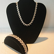 REDUCED Old Mine Cut Crystal Necklace and Bracelet Set