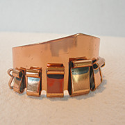 REDUCED Vintage Renoir Copper Cuff Bracelet Signed