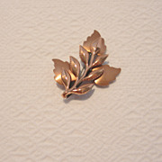 Vintage Renoir Copper Brooch
