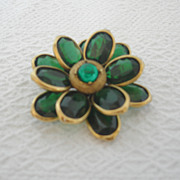 REDUCED Vintage Corocraft Flower Brooch