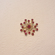 REDUCED Vintage Faux Garnet Brooch