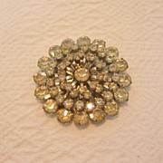 REDUCED Vintage Flower Rhinestone Brooch, Unsigned