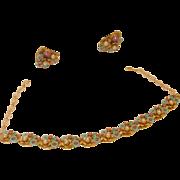 SALE Vintage ART Demi-Parure Necklace & Earrings
