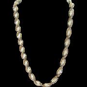 SALE Vintage Italian Twisted Silver Vermeil Necklace