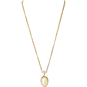 Vintage Emmons Faux Baroque Pearl Pendant with Chain