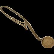 Vintage King George VI Sixpence Commemorative Pendant
