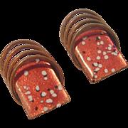 Vintage Matisse Copper & Enamel Clip-on Earring