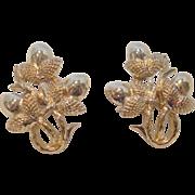 Vintage CORO Metal Clip-On Earrings