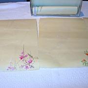 REDUCED Handmade, Handpainted Vintage Stationary Set