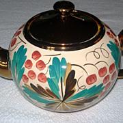REDUCED Wade Copper Luster Ware Tea Pot & Sugar Bowl