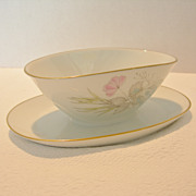 "SALE Rosenthal ""Bettina"" Gravy Boat With Attached Dish"