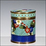 SOLD Lidded Chinese Cloisonne Jar / Container