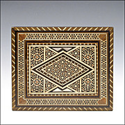 SOLD Sadeli Mosaic Inlaid Box