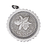 Sterling Silver 'Mother' Pendant or Charm