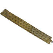 LAST CHANCE   Crown Trifari Tessellated Honeycomb Bracelet 1940's With Matching Reinad Earring