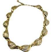 SALE Trifari Necklace Wave like gold-tone