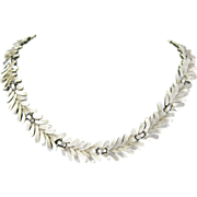 Trifari Silver-tone Necklace spray design