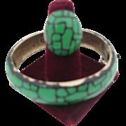 1970's Eisenberg Enamel Bangle bracelet and ring