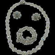 Three piece Crystal demi parure