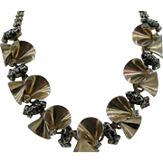 SALE HOBE Unusual Necklace with black nevettes