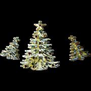 SALE Mylu Christmas tree pin and earrings set
