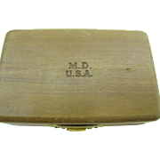 REDUCED Old medical wooden Box marked M.D U.S.A
