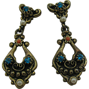 Vintage New old stock Dangle Earrings