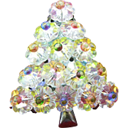 SALE Fabulous MARGARITA CRYSTAL & Rhinestone Vintage CHRISTMAS TREE Pin Brooch