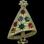 SALE Retro Fun and Funky Christmas tree pin unsigned MYLU
