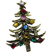 SALE Hollycraft Christmas tree pin two candle