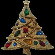 SALE Beautiful Draped J.J Christmas tree pin