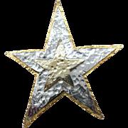 Large Mandle Star pin three layers