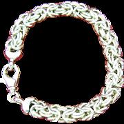 Vintage Sterling Signed Milor Italy Byzantine Bracelet
