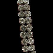 Weiss Clear Double row Rhinestone Bracelet