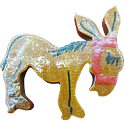 SALE Wooden Donkey pin World War 2 era