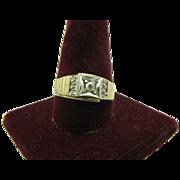 Men's 14K gold and Platinum Diamond ring